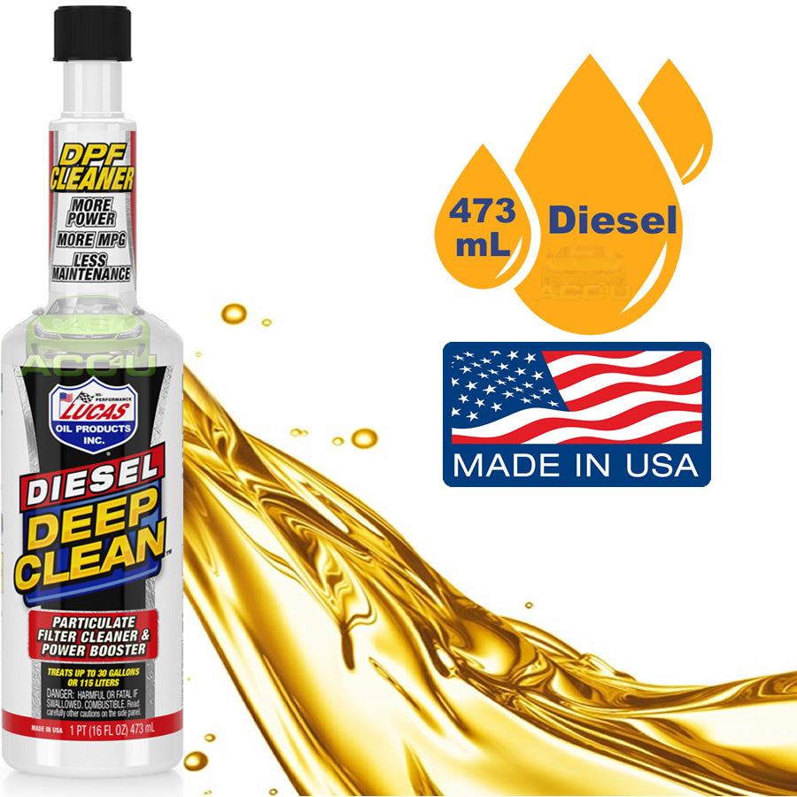 Lucas Oil Car Diesel Engine Deep Clean DPF Diesel Particulate Filter Cleaner 473ml