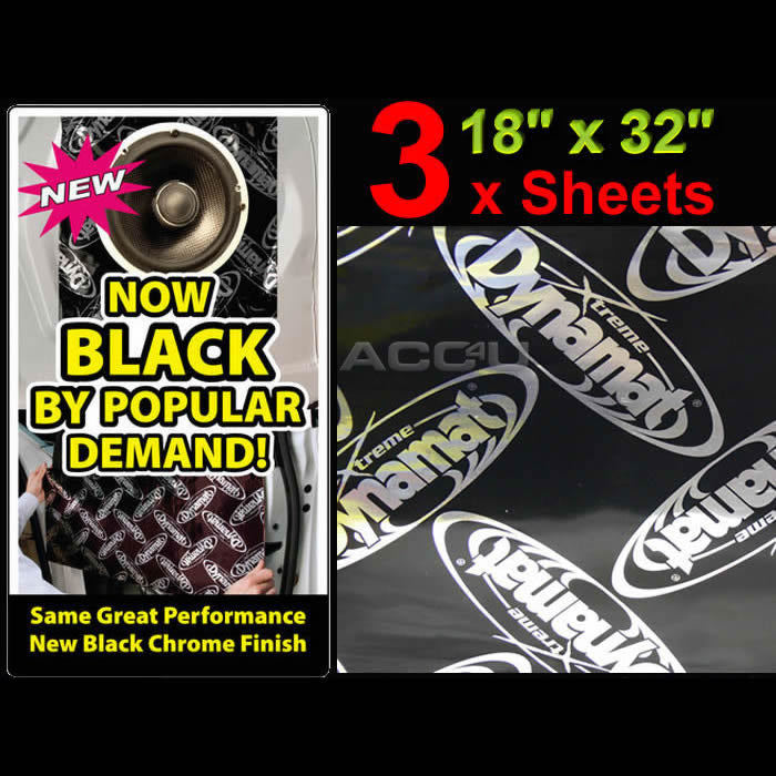 "Dynamat Xtreme Car Door Floor Hood Boot Sound Proofing Deadening 18"" x 32"" 3 Sheets"