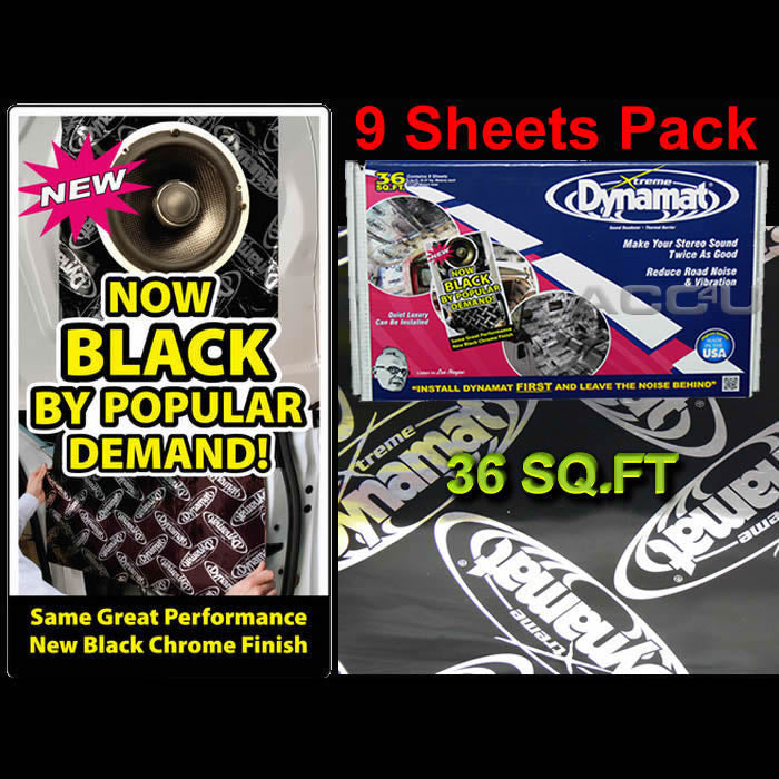 "Dynamat Xtreme Car Door Floor Boot Sound Proofing Deadening 18"" x 32"" 9 Sheets Pack"