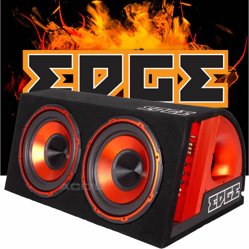 "Edge EDB12TA Car 12"" inch Twin Active Amplified Subwoofer Bass Box Enclosure+Kit"