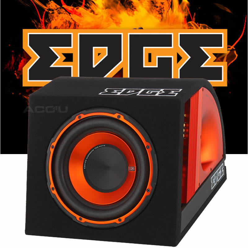 "Edge EDB10A Car 10"" inch Active Amplified Subwoofer Bass Box Enclosure+Wiring Kit"