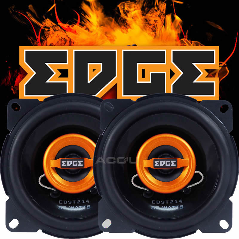 "Edge EDST214-E6 4"" inch 100mm 10cm 160w 2-Way Car Door Dash Coaxial Speakers Set"