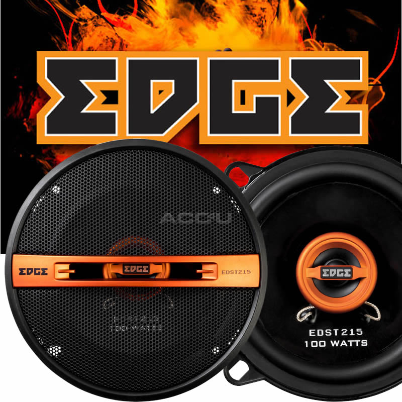 "Edge EDST215-E6 5 5.25"" inch 130mm 200w Car Van Door Coaxial Orange Speakers Set"