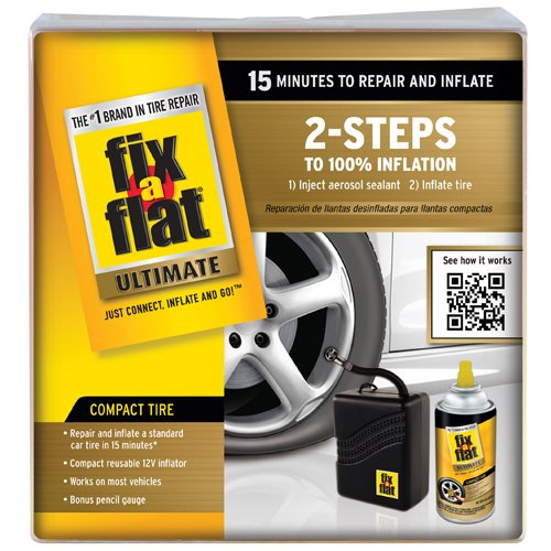 Fix A Flat Ultimate Car Flat Tyre Puncture Repair Fix Sealant Air Compressor Kit