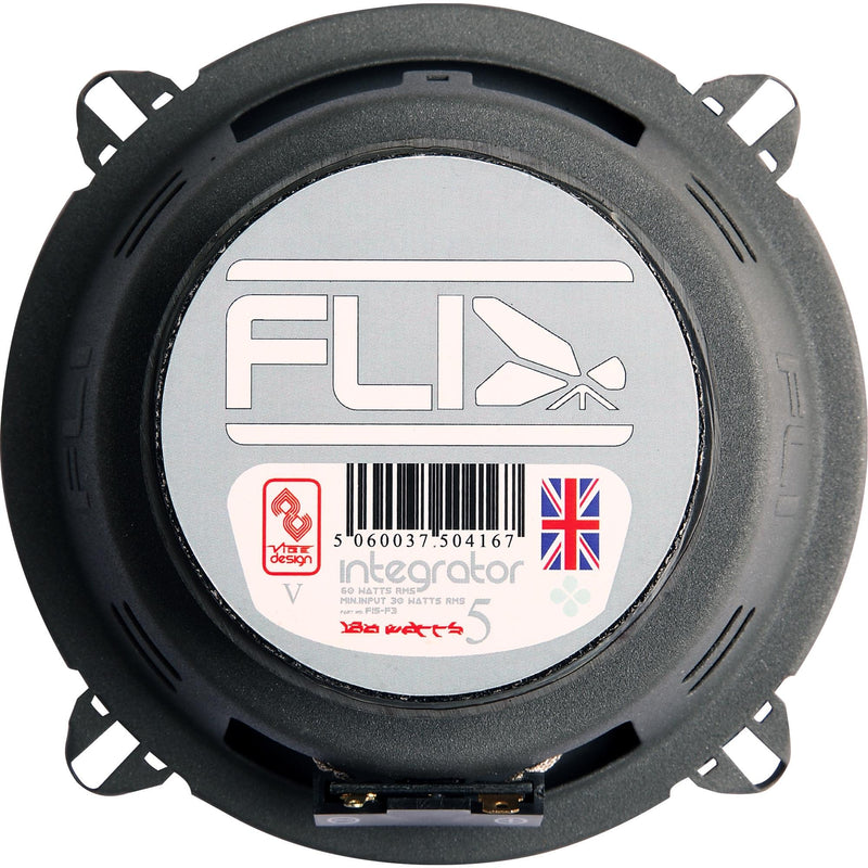 "FLI Audio Integrator 5 5.25"" inch 180w 3-Way Car Door Dash Shelf Coaxial Speakers Set"