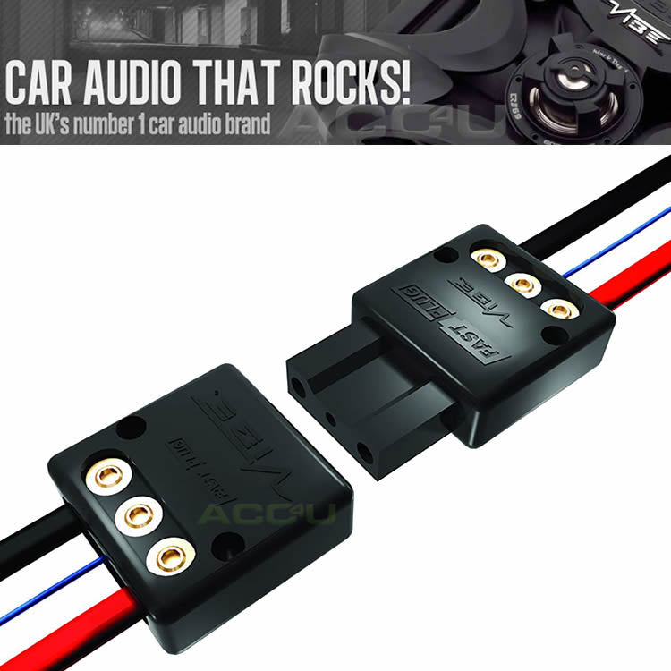 Vibe Audio Fast Plug 12v Car Active Bass Box Amplifier Quick Release Power Connector