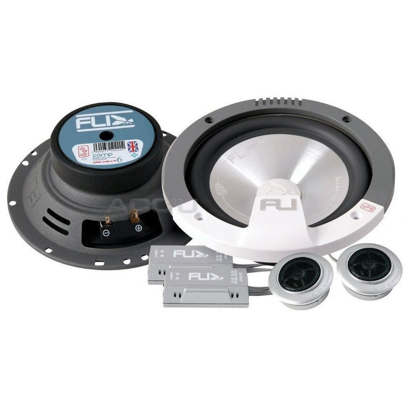 "Fli Audio Integrator Comp 6 6C 6"" inch 510w Car Door Component Speakers System Set"