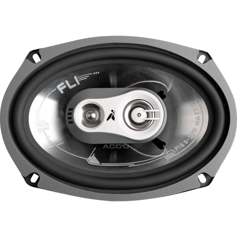 "FLI Audio Integrator 69 6x9"" inch 750w 3 Way Car Rear Parcel Shelf Coaxial Speakers Set"