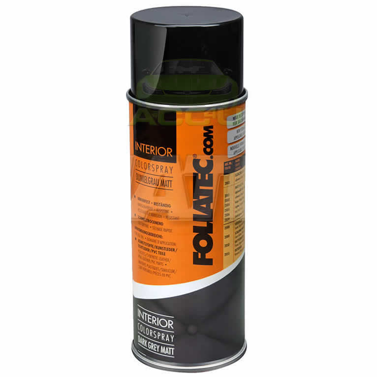 Foliatec Dark Grey Matt FT2009 Car Interior Dashboard Door Plastic Vinyl Spray Paint