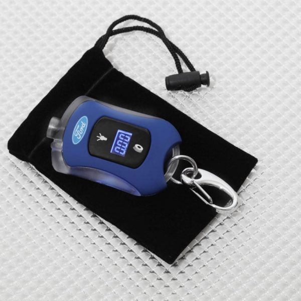 Richbrook Ford Official Licensed Mini Car Digital Tyre Pressure Gauge & LED Light Keyring