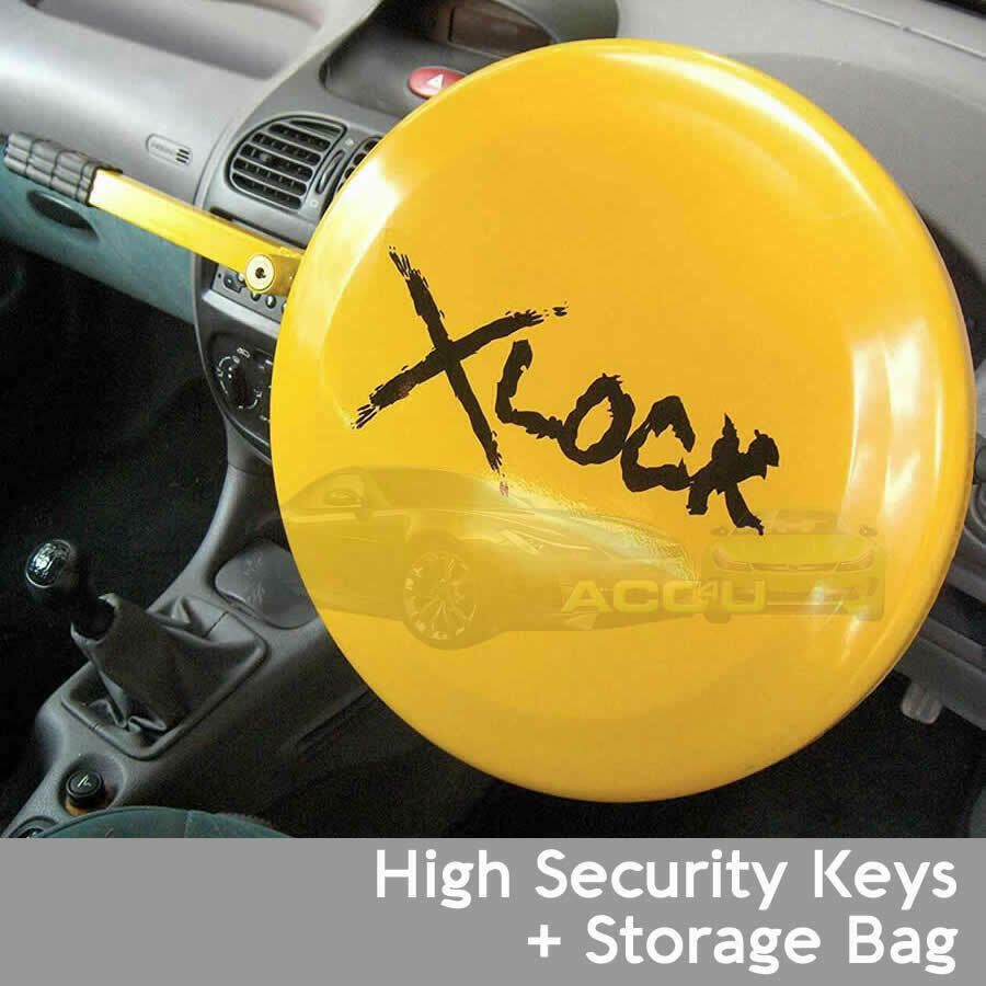Car Anti Theft High Security Full Face Disc Cover Steering Wheel Lock SWUXSL2
