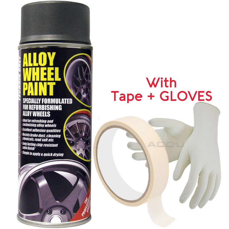 E-Tech TECHNIK GREY Car Alloy Wheel Wheels Refurbishment Spray Paint Can