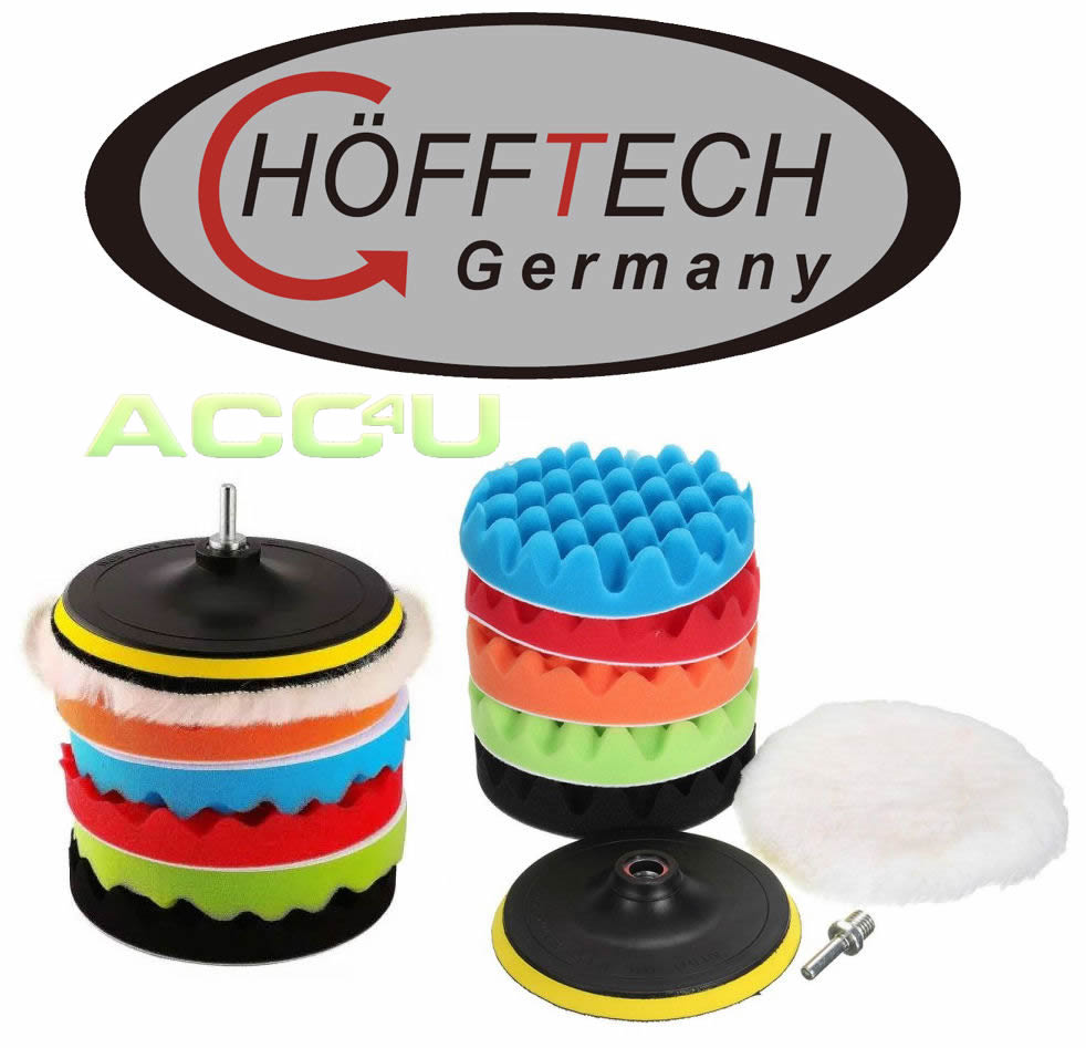 Hofftech Car Dual Action Polisher 150mm 7 Pieces REPLACEMENT Polishing Pads Set
