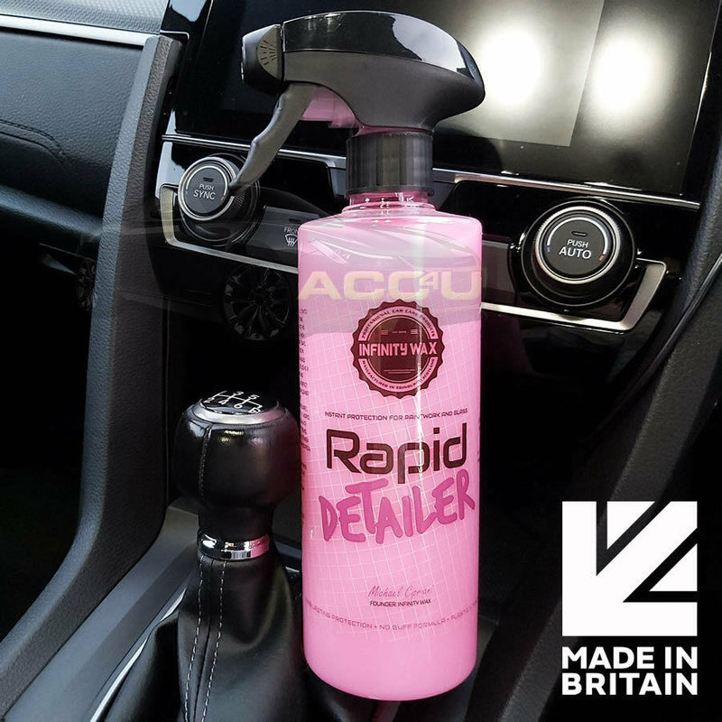 Infinity Wax Pink Rapid Detailer For Car Paintwork Glass Quick Detailing Spray