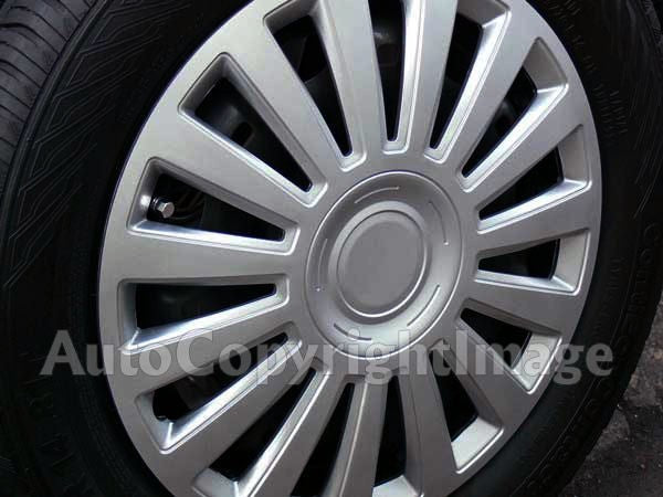"16"" Silver Luxury Multi Spoke Car Wheel Trims Hub Caps Covers Set+Dust Caps+Ties"