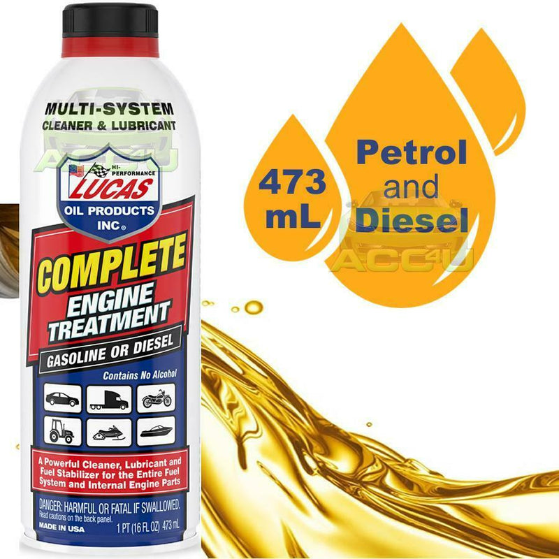 Lucas Car 4x4 Bike Boat Petrol Or Diesel Complete Engine Oil Treatment Lubricant