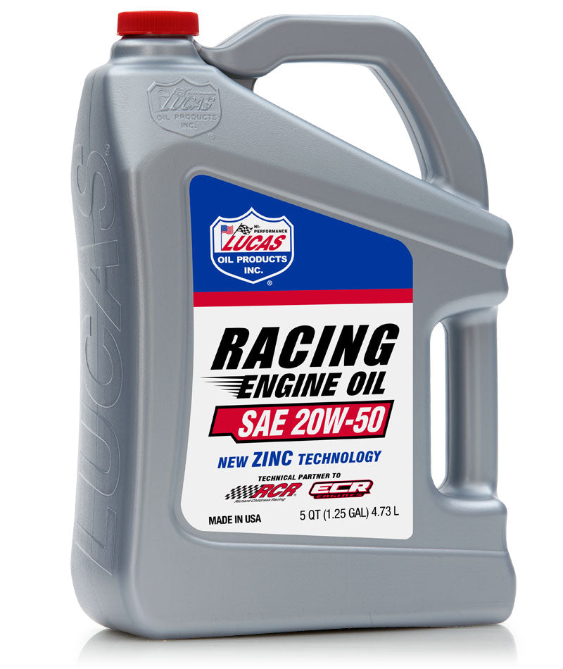 Lucas Oil SAE 20W-50 20W50 Zinc Technology High Performance Racing Engine Oil 4.73L