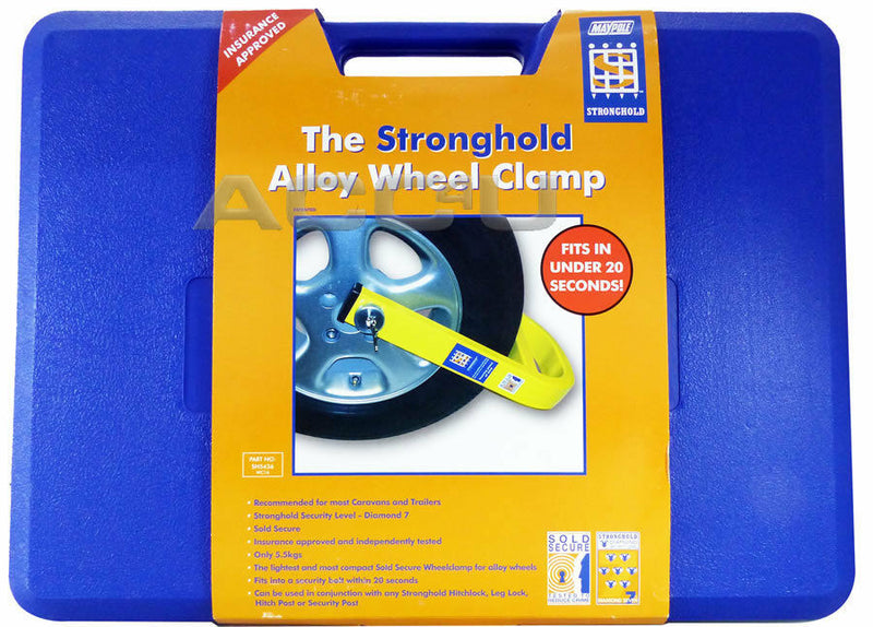 "Stronghold SH5436 13"" 14"" 15"" Car Caravan Insurance Approved Alloy Wheel Clamp"