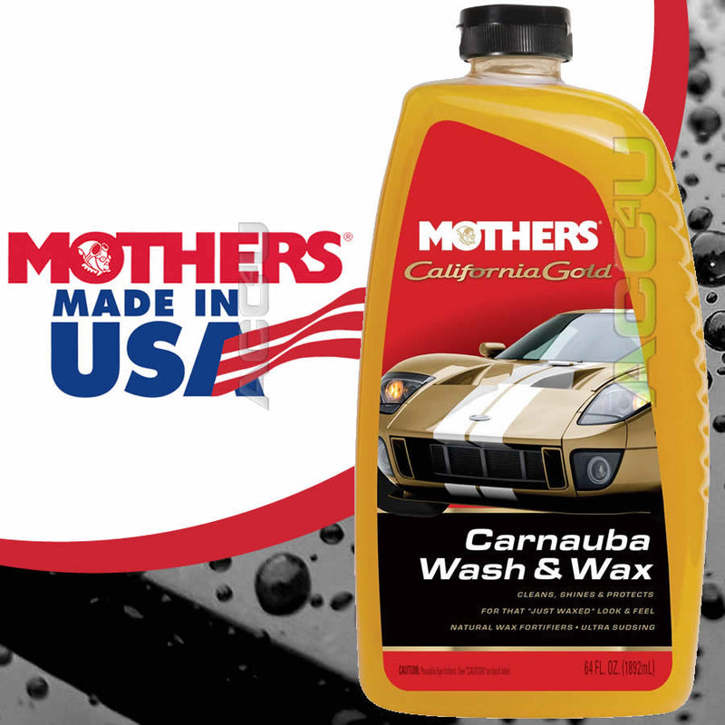 Mothers California Gold Car Carnauba Wash & Wax Shine Shampoo 1892ml
