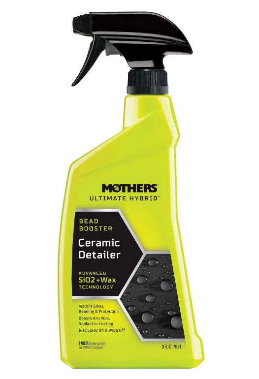 Mothers Ultimate Hybrid Car Paint Bead Booster SiO2 Ceramic Quick Detailer+Cloth