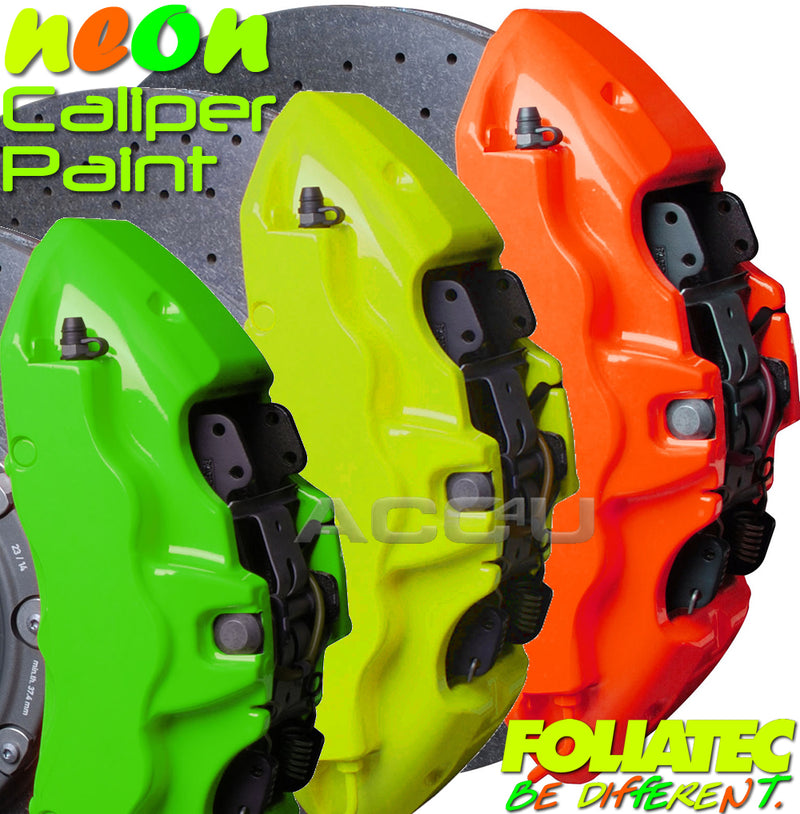 Foliatec Neon Bright Car Bike Engine & Brake Caliper High Temperature Paint Kit