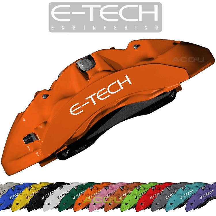 E-Tech Quality ORANGE Car Engine Bay Block Valve Cover Brake Caliper Paint Kit