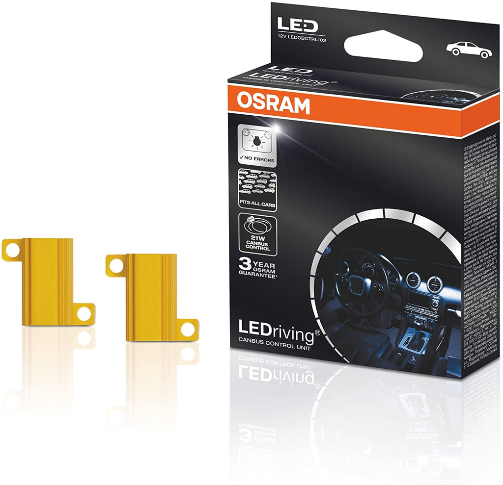 Osram LEDCBCTRL102 12v Car LEDriving SL LED Bulbs 21W Canbus Control Resistors Unit