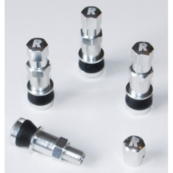 Richbrook Bolt In Aluminium Pro-Valve Silver Car Alloy Wheels Wheel Valves Set Of 4