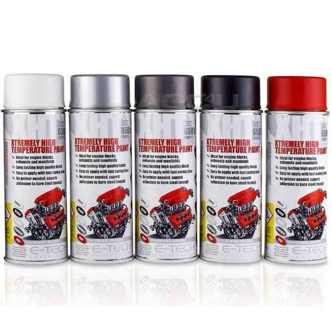E-Tech RED XHT Xtremely High Temperature VHT Car Engine Blocks Exhaust Spray Paint Can