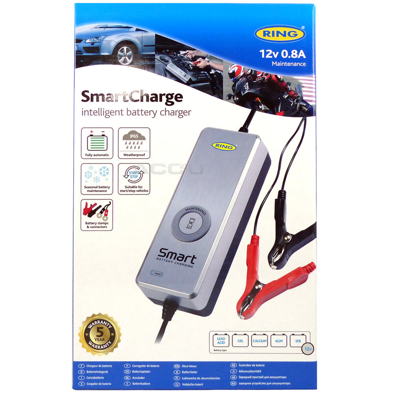 Ring RSC601 12v 0.8A Start-Stop Car Smart Automatic Battery Maintenance Charger