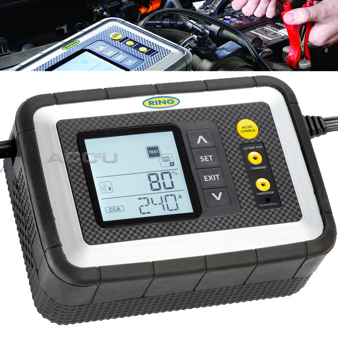 Ring RSC608 12v 8 Amp Car Van Intelligent Smart Battery Charger & Analyser Tester