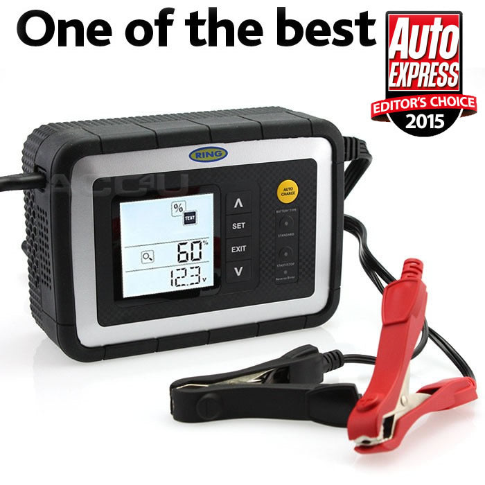 Ring RSC612 12v 12 Amp Car Van Intelligent Smart Battery Charger & Analyser Tester