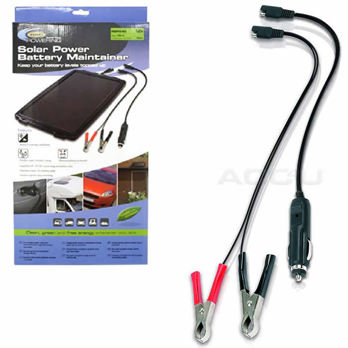Ring RSP240 12v Car Van Bike 4x4 Solar Power 100Ah Battery Maintainer Charger