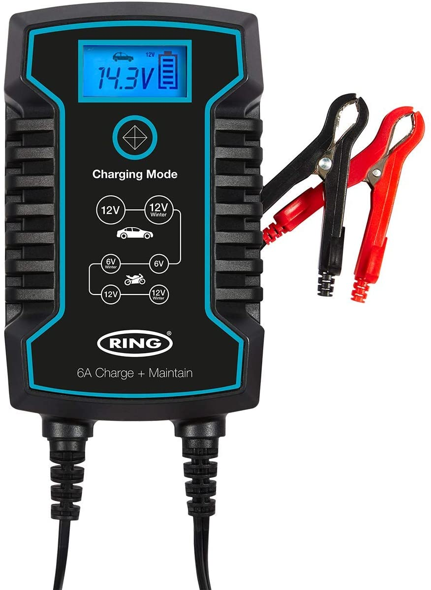 Ring RSC806 6v 12v 6A Start/Stop Car 4x4 Bike Smart Battery Charger & Maintainer