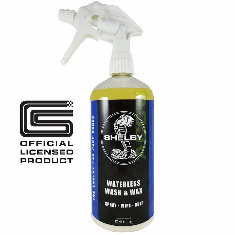 Shelby Car Waterless Wash & Wax 1L Spray On Wipe Off For Showroom Shine Finish