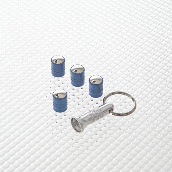 Richbrook Spinning Car Anti Theft Wheel Valve Dust Caps Set Of 4
