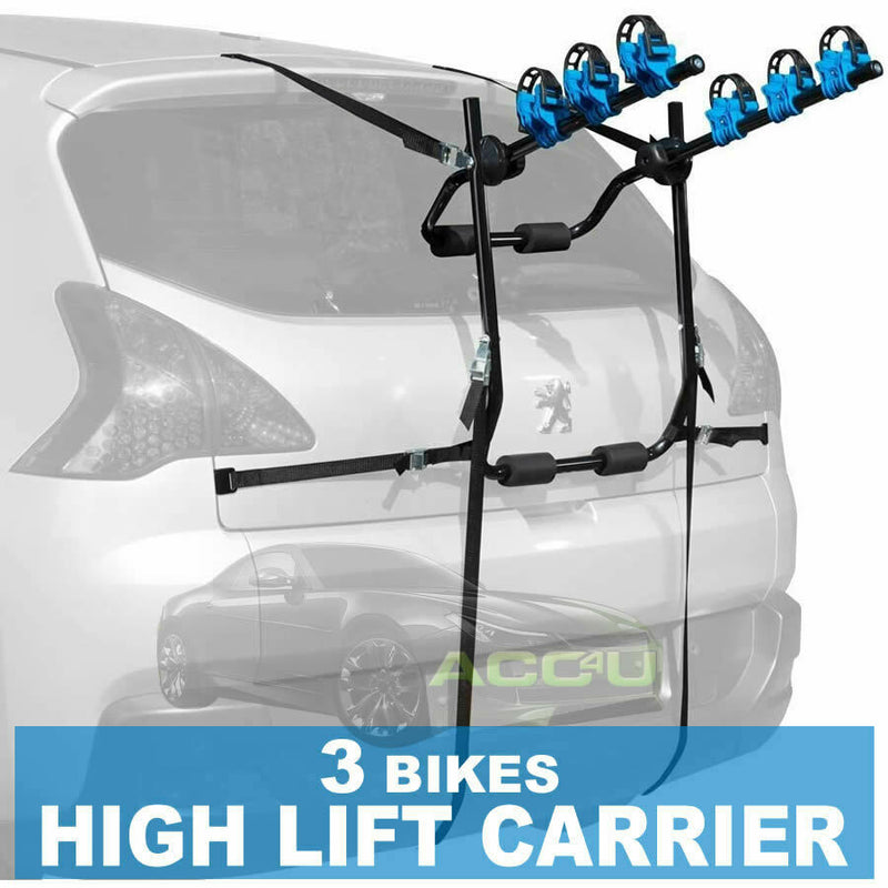 Summit SUM-601 Car 4x4 Hatchback Rear Boot High Mount 3 Bikes Cycle Carrier Rack