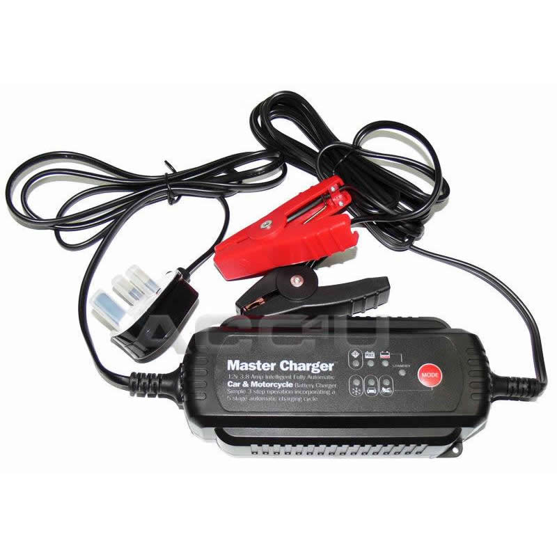 12v 3.8 Amp Car Van Motorcycle Boat Intelligent Fully Automatic Battery Charger