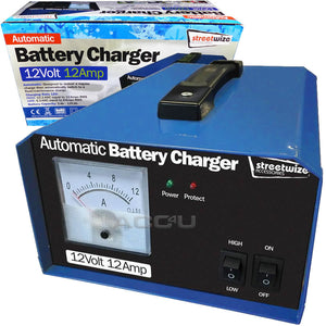 Automatic 12V 12Amp 120Ah Car Van Motorhome Maintenance Battery Charger