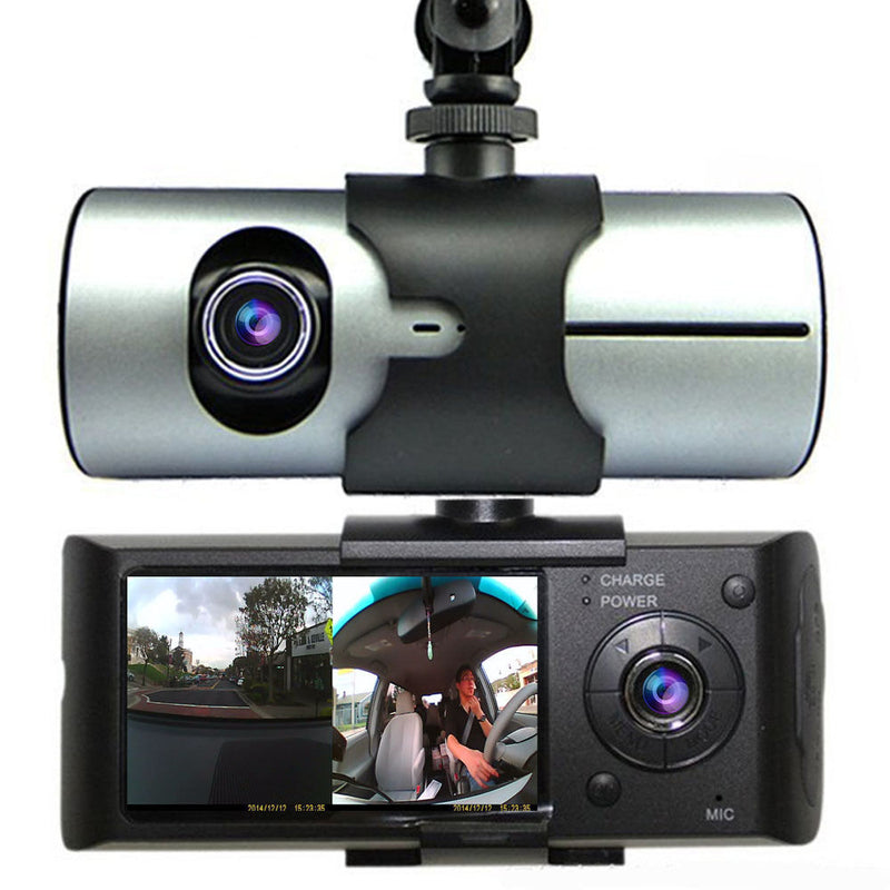 "In Car Taxi CCTV 2.7"" Display GPS HD Front & Rear Dual Dash Cam Camera Video Journey Recorder"
