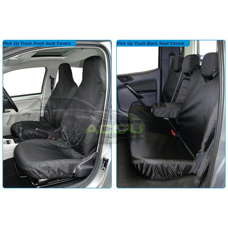 For Toyota Hilux Pick Up Truck Semi Tailored Heavy Duty Waterproof Seat Covers Set