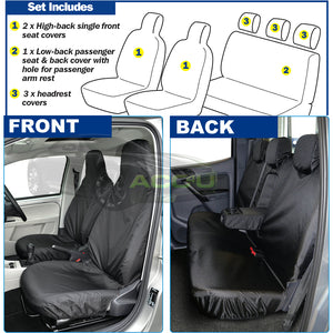 For Mitsubishi L200 Pick Up Truck Semi Tailored Heavy Duty Waterproof Seat Covers Set