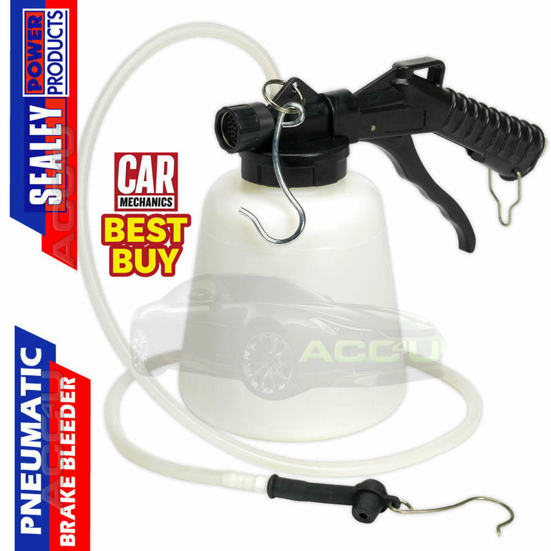 Sealey 1L Pneumatic Vacuum Car Hydraulic Brake Clutch Fluid Bleeder Bleeding Kit