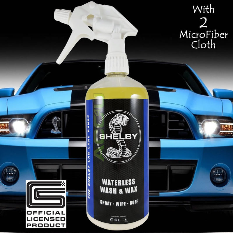 Spray on car wash and wax gravity shower mixer