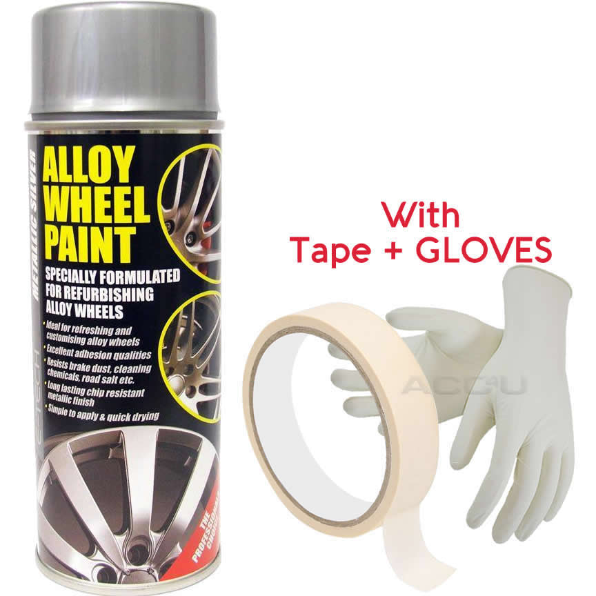E-Tech METALLIC SILVER Car Alloy Wheel Wheels Refurbishment Spray Paint Can