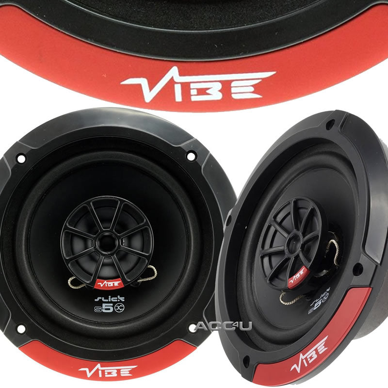 "Vibe SLICK5 V7 Slick Series 2 5.25"" inch 420w Car Van Door Shelf Coaxial Speakers Set"