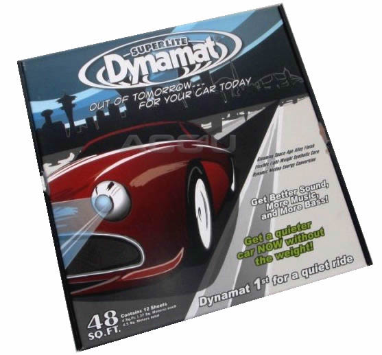 "Dynamat Superlite Car Door Floor Hood Sound Proofing Deadening 18"" x 32"" 12 Sheets"