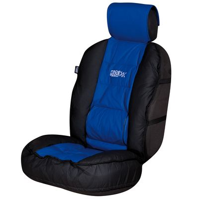 Race Sport Blue Black Luxury Padded Lumbar Side Support Car Single Seat Cover Cushion