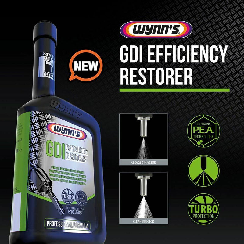 Wynns Car Petrol & Hybrid Engine GDI Efficiency Restorer Direct Injector Cleaner
