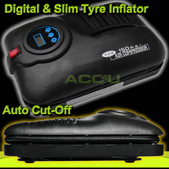 12v 150 PSI Auto Cut-Off Digital Car Tyre Air Compressor Inflator Pump SWAC5